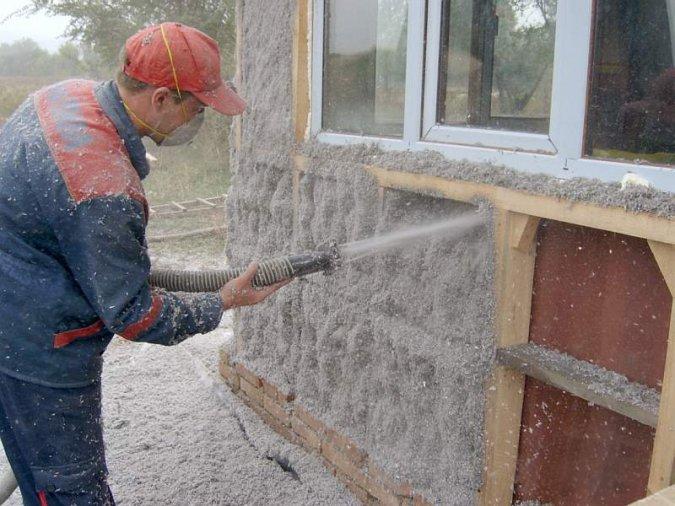 Теплоизоляция стен эковатой